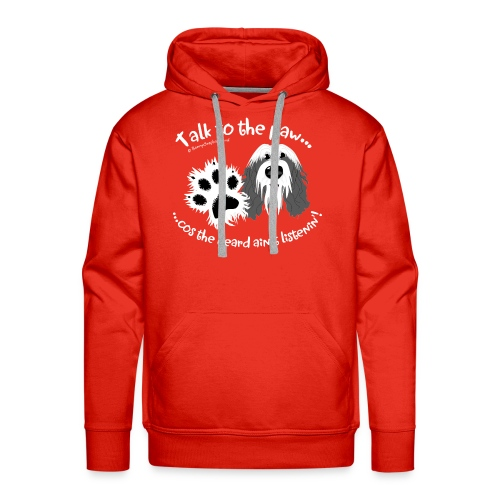 Talk to the paw bearded collie - Men's Premium Hoodie