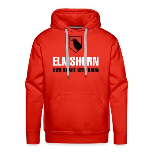 Elmshorn Kraehe schwarz-weiß - Männer Premium Hoodie