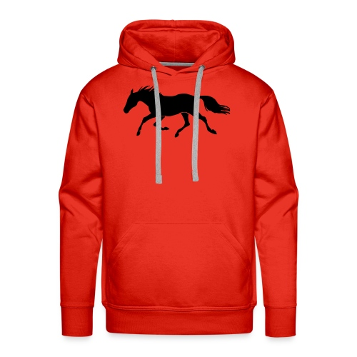Cavallo - Felpa con cappuccio premium da uomo