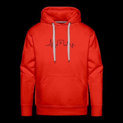 Youtube Heartbeat - Mannen Premium hoodie