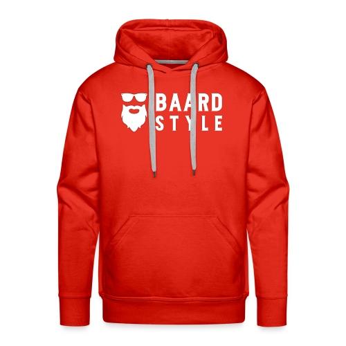 BaardStyle cap 1-white - Mannen Premium hoodie
