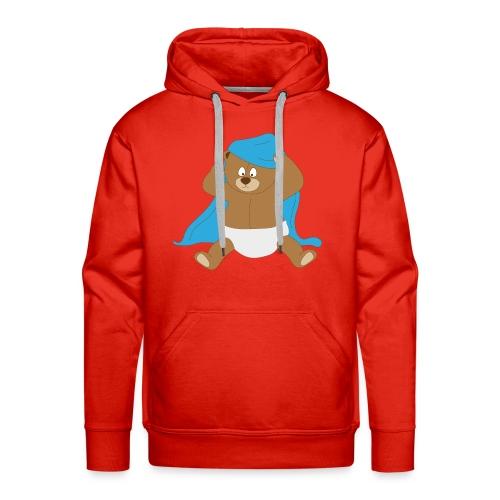 Beertje onder deken - Mannen Premium hoodie
