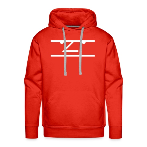 The Average Men Hoodie, White Logo - Mannen Premium hoodie