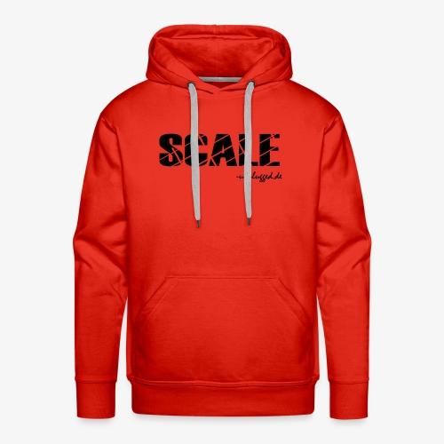 SCALE Logo schwarz - Männer Premium Hoodie