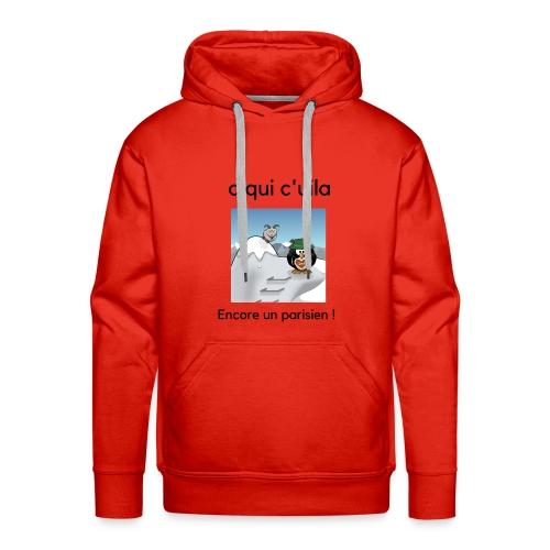 neige parisien - Sweat-shirt à capuche Premium pour hommes
