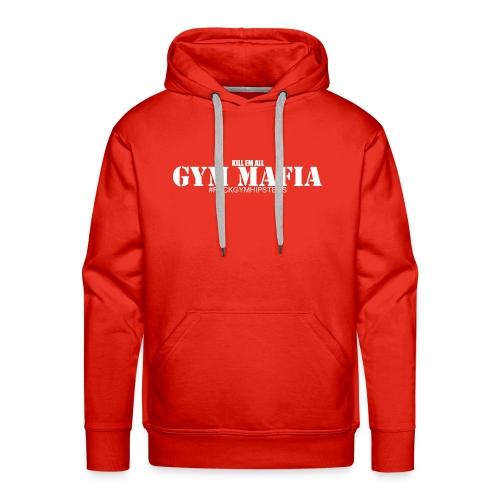gym_mafia_white - Bluza męska Premium z kapturem