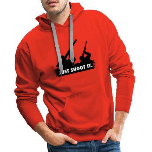 Just shoot it. - Sweat-shirt à capuche Premium pour hommes