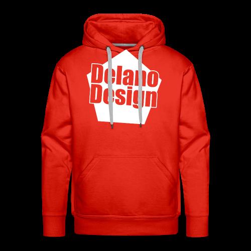 DelanoDesign - Logo Wit - Mannen Premium hoodie