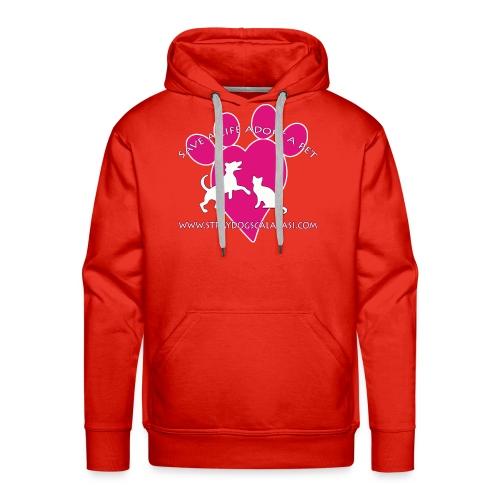 LOGO www.Straydogscalarasi.com pink - Mannen Premium hoodie