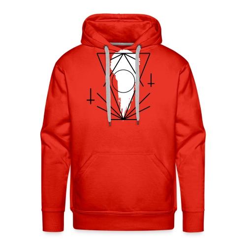 Geo-oddity_line_whiteout - Men's Premium Hoodie