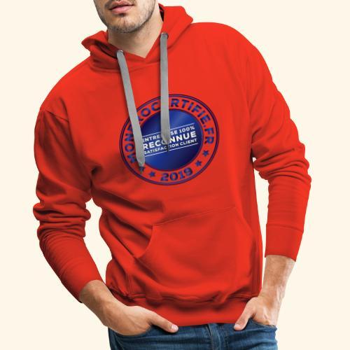 MONPROCERTIFIE - Sweat-shirt à capuche Premium pour hommes