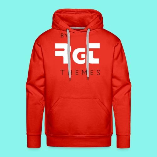 BY RGT THEMES white - Sudadera con capucha premium para hombre