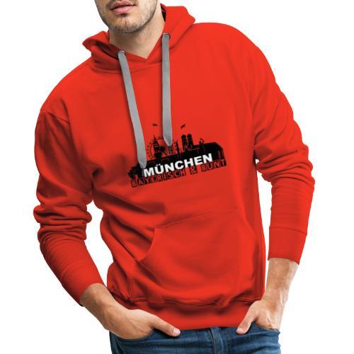 MUENCHEN BAYERISCH BUNT (LOGO SW) - Männer Premium Hoodie