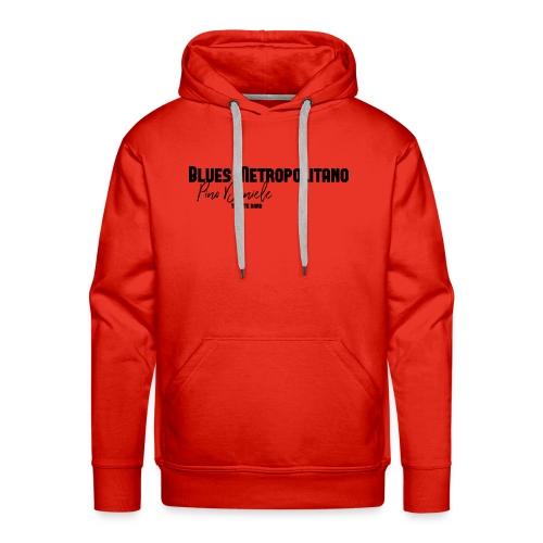 BM logo nero - Felpa con cappuccio premium da uomo