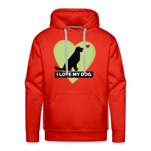 I LOVE MY DOG HEART - Men's Premium Hoodie