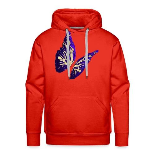Golden Butterfly 2 - incantevole farfalla colorata - Felpa con cappuccio premium da uomo