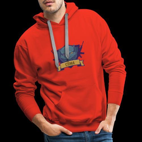 logo coma - Sweat-shirt à capuche Premium pour hommes