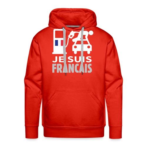 Je suis français - Sweat-shirt à capuche Premium pour hommes