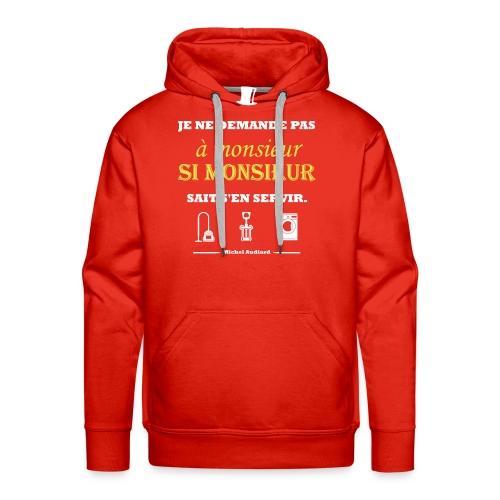 Citation Michel Audiard - Sweat-shirt à capuche Premium pour hommes