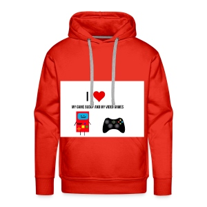 i love my game buddy and my video games - Men's Premium Hoodie