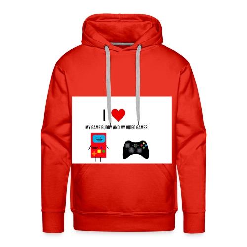 i love my game buddy and my video games - Men's Premium Hoodie