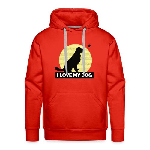 I LOVE MY DOG - Men's Premium Hoodie