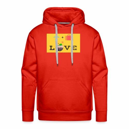 Love - Felpa con cappuccio premium da uomo