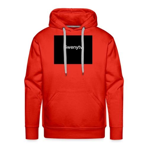 swenytv zwart logo - Mannen Premium hoodie