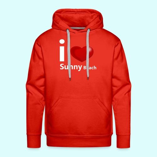I love Sunny Beach 2 (white print) - Mannen Premium hoodie