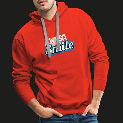 There is alwas a reason to smile - blau hell - Männer Premium Hoodie