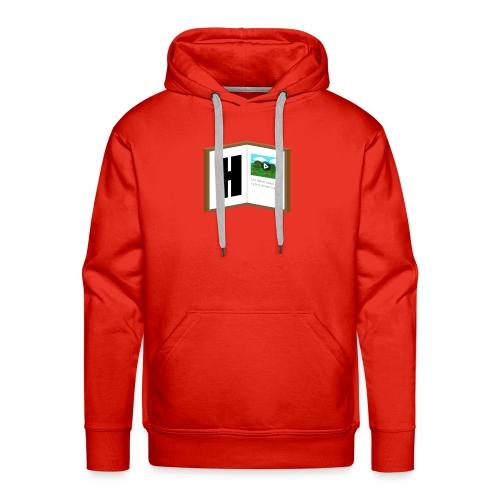Hyttebok Logo - Premium hettegenser for menn