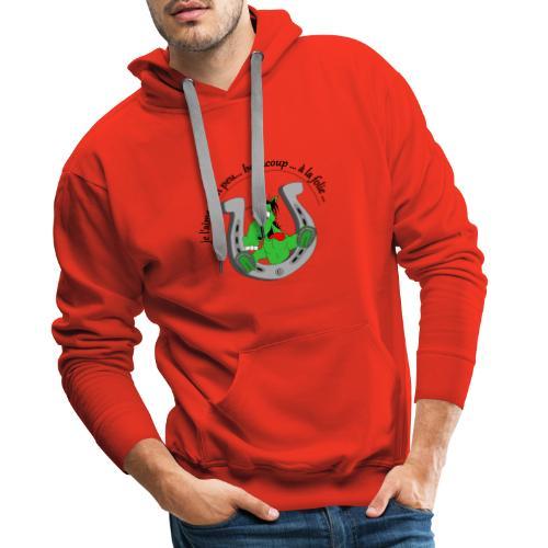 Cheval à la folie FC - Sweat-shirt à capuche Premium pour hommes