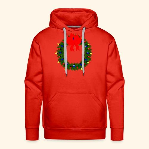 The christmas wreath - Men's Premium Hoodie
