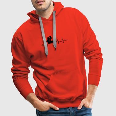 Hearbeat Sex T-Shirt Geschenk Beziehung Partner - Männer Premium Hoodie