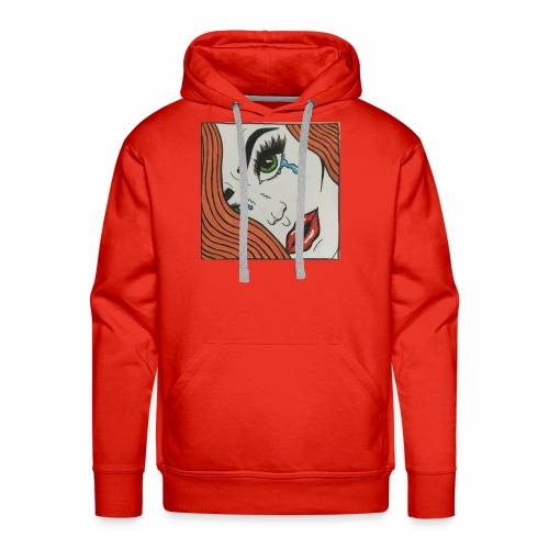 POP Art Lady-close up - Men's Premium Hoodie