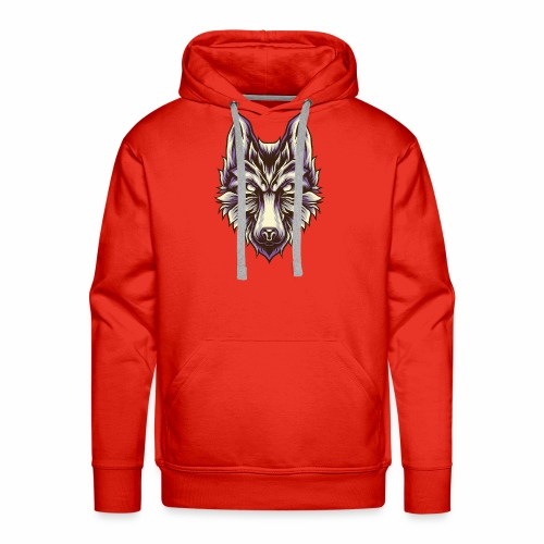 Wolf T-Shirt Retro Vintage White Wolves Canine Dog - Men's Premium Hoodie