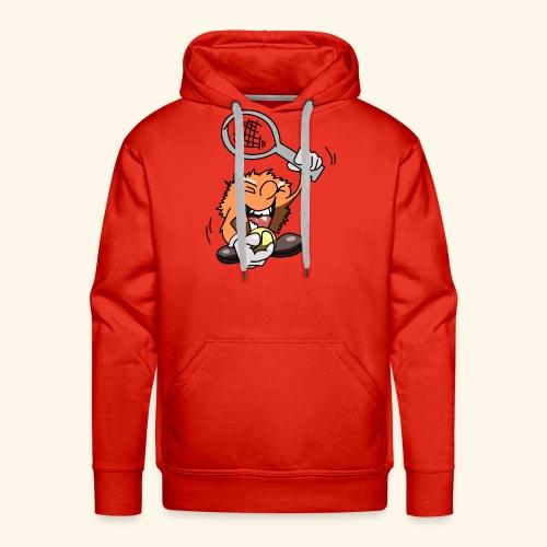 Grappig mannetje speelt tennis - Mannen Premium hoodie