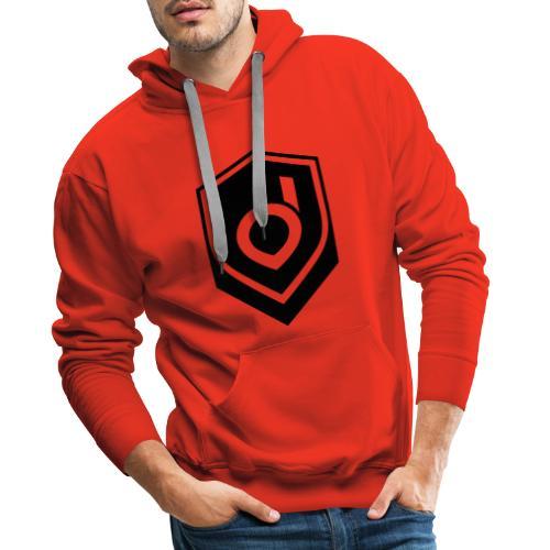 Logo Schwarz Inverted - Männer Premium Hoodie