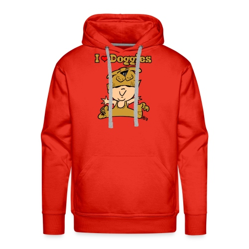 baby i love doggies color - Mannen Premium hoodie