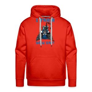 I farm you eat blauw - Mannen Premium hoodie