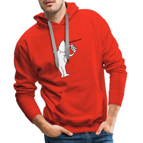 Cat Modern art Rip N dip - Sweat-shirt à capuche Premium pour hommes