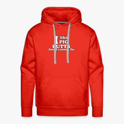 i like pig butts - Mannen Premium hoodie