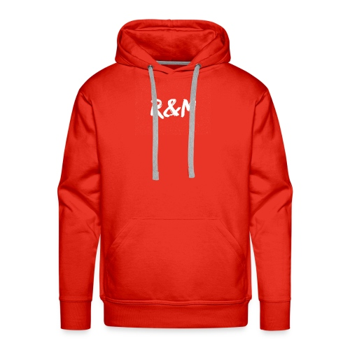 R&M Large Logo tshirt black - Men's Premium Hoodie