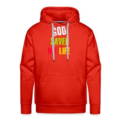 Gott hat mein Leben gerettet - Männer Premium Hoodie