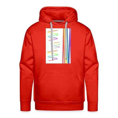 Lineas coloridas - Sudadera con capucha premium para hombre