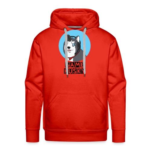 Maglietta Bianca Game Husky - Felpa con cappuccio premium da uomo
