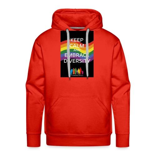 T-shirt, tonåring, embrace diversity - Premiumluvtröja herr