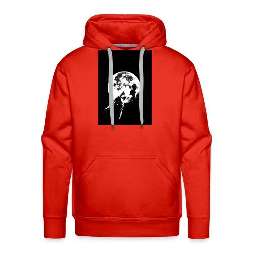 El Lobo y la Luna - Sudadera con capucha premium para hombre