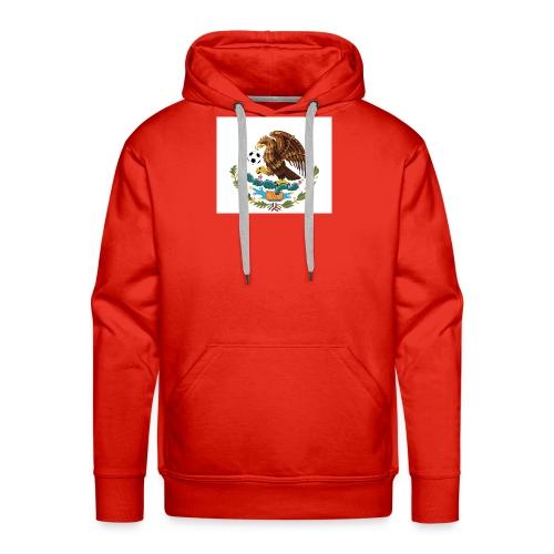 Aguila mexicana con balón de fútbol - Sudadera con capucha premium para hombre