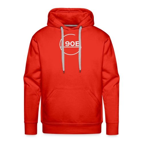 190B G hoop white - Mannen Premium hoodie